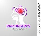 parkinson's disease icon design ... | Shutterstock .eps vector #1024350265