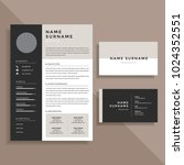 professional resume cv and... | Shutterstock .eps vector #1024352551