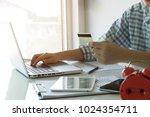 closeup shot of an business man ...   Shutterstock . vector #1024354711