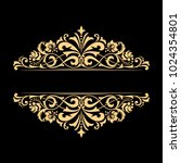 vintage gold frame on a black... | Shutterstock .eps vector #1024354801