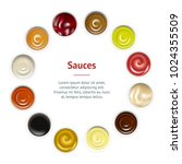 realistic detailed sauces in... | Shutterstock .eps vector #1024355509