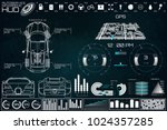 futuristic user interface. car... | Shutterstock .eps vector #1024357285