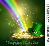 st. patrick s day symbol green... | Shutterstock .eps vector #1024359394