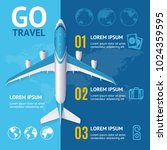 go travel concept with... | Shutterstock .eps vector #1024359595