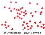 heart paper confetti isolated... | Shutterstock . vector #1024359955