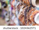 handmade leather bracelets | Shutterstock . vector #1024362571