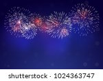 brightly colorful fireworks... | Shutterstock .eps vector #1024363747