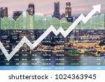 business successful financial... | Shutterstock . vector #1024363945