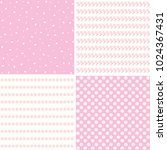 floral patterns set with small... | Shutterstock .eps vector #1024367431