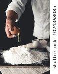 dessert mix wheat flour with...   Shutterstock . vector #1024368085