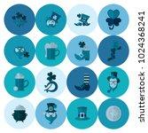 saint patricks day icon set.... | Shutterstock .eps vector #1024368241