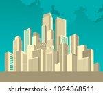 vector illustration cityscape... | Shutterstock .eps vector #1024368511