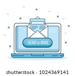email marketing and promotion...   Shutterstock .eps vector #1024369141
