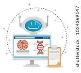 artificial inteligence...   Shutterstock .eps vector #1024369147