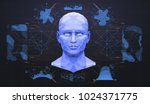 concept of face scanning....   Shutterstock .eps vector #1024371775