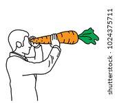 metaphor benefit of  vitamin a... | Shutterstock .eps vector #1024375711