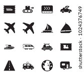 solid black vector icon set  ... | Shutterstock .eps vector #1024376749