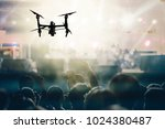 closeup silhouette of drone... | Shutterstock . vector #1024380487