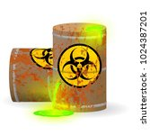 chemical biological waste in a... | Shutterstock .eps vector #1024387201