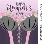 international woman's day...   Shutterstock .eps vector #1024387771