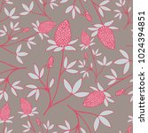 floral pattern with hand drawn... | Shutterstock .eps vector #1024394851