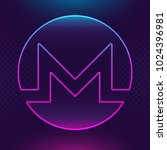 monero xmr vector outline icon. ... | Shutterstock .eps vector #1024396981