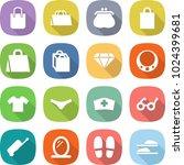 flat vector icon set   shopping ... | Shutterstock .eps vector #1024399681