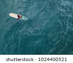 lonely surfer sits on the... | Shutterstock . vector #1024400521