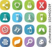 flat vector icon set   molecule ... | Shutterstock .eps vector #1024402039