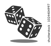 two black falling dice isolated ... | Shutterstock .eps vector #1024404997