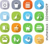 flat vector icon set   washing... | Shutterstock .eps vector #1024406029