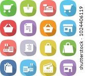 flat vector icon set   cart... | Shutterstock .eps vector #1024406119