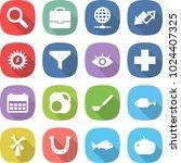 flat vector icon set  ... | Shutterstock .eps vector #1024407325