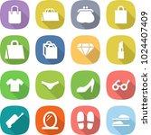 flat vector icon set   shopping ... | Shutterstock .eps vector #1024407409