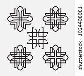 geometry ornament vector | Shutterstock .eps vector #1024408081