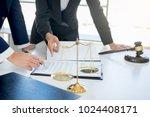 teamwork of business lawyer... | Shutterstock . vector #1024408171