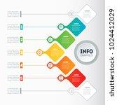 vector infographic of... | Shutterstock .eps vector #1024412029