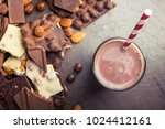 tasty chocolate drink with... | Shutterstock . vector #1024412161