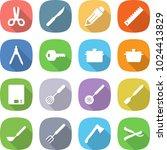 flat vector icon set   scissors ... | Shutterstock .eps vector #1024413829