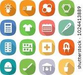 flat vector icon set   bulb... | Shutterstock .eps vector #1024413889