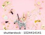 Cosmetics For Make Up In Zebra...