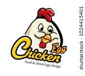 chicken mascot logo with text | Shutterstock .eps vector #1024415401
