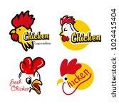 chicken mascot logo with text | Shutterstock .eps vector #1024415404