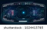 radar screen. vector...