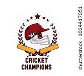 cricket champions emblem | Shutterstock .eps vector #1024417051