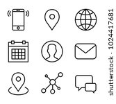 communication line icons... | Shutterstock .eps vector #1024417681