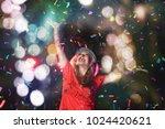 party concept   asian woman...   Shutterstock . vector #1024420621