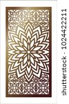 vector laser cut panel. pattern ...   Shutterstock .eps vector #1024422211