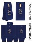 paper bag die cut mock up... | Shutterstock .eps vector #1024424929