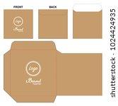 envelope die cut mock up... | Shutterstock .eps vector #1024424935